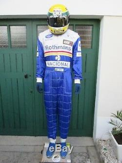 Rare Combinaison F1 Senna Formule 1 Helmet 1/1 Williams Renault Rothmans