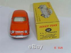 Rare Dinky Toys Panhard PL 17 réf 547 + boite