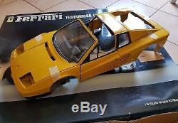 Rare Pocher Ferrari Testarossa coupé convertible jaune 1/8 ref K59