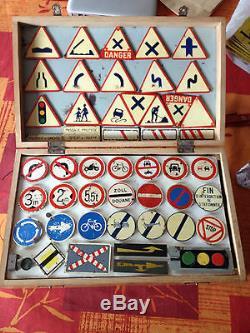 Rarissime jeu lyro enseignement code route d'auto ecole années 50/60 tole norev