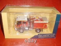 Renault D14 4x4 Ccfm Sides 28 Pompiers 1/43 Eligor En Boite