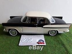 SIMCA CHAMBORD noir + CARAVANE HENON 1/18 NOREV voiture miniature de collection