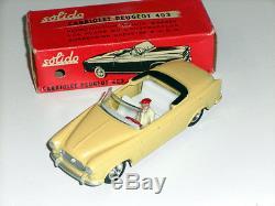 SOLIDO #108 (1959) PEUGEOT 403 CABRIOLET NEAR MINT BOX SERIE 100 ORIGINALE