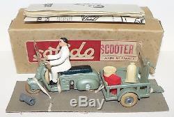 SOLIDO Démontables RARE COFFRET SCOOTER TRANSFORMABLE EN TRI-PORTEUR 1952