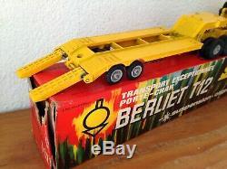 SOLIDO FRANCE. BERLIET T12 Transport Exceptionnel porte char Réf 305. + Boite