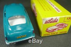 SOLIDO FRANCE. Série 100. ASTON MARTIN DB5. (turquoise) REF 130 + boite