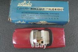 SOLIDO FRANCE. Série 100. RENAULT FLORIDE cabriolet. REF 109 + boite
