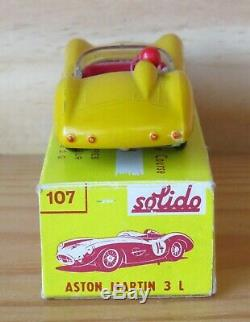 SOLIDO série 100 ASTON MARTIN 3L Couleur peu courante