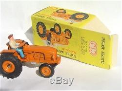SUPERBE et PEU COURANT CIJ C. I. J. France 3/33 Tracteur Renault NEUF BO+pub dinky