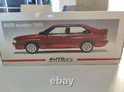 Sealed never open AutoArt 1/18 Audi Quattro 1988 tizianred 70304 LWB Street Car