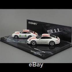 Set Porsche 911 R 1967-2016 blanc / rouge 1/43 Minichamps 413066221