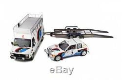 Set Rallye Monté Carlo 1985 assistance + peugeot 205 T16 au 1/18 de OTTO OT328