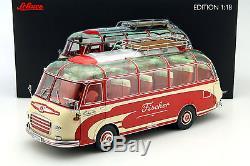 Setra S6 Fischer Reisebus rot / beige 118 Schuco