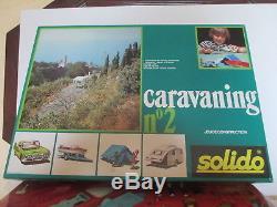 Solido Demontable 434 Coffret Caravaning 2 Mib Rare Never Opened Jamais Ouvert