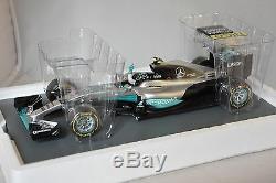 Spark 18S250 MERCEDES F1 W07 Hybrid n. 6 2ème GP Abu Dhabi GP 2016 Rosberg 1/18
