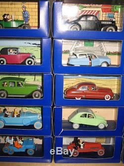 Suberbe Lot 20 X En Voiture Tintin Neuf Complet Avec Certificats Tbe
