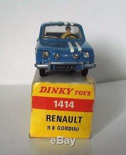 Suberbe Renault 8 R8 Gordini En Boite Box Dinky Toys Ancien