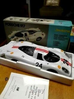 Superbe Vehicule Joustra Porsche 917 Blanche Radio Commander Neuf Boite 40 CM