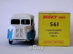 Superbe et rare DINKY FRANCE 561 Citroën 1200KG GLACES GERVAIS + Bte. D'origine