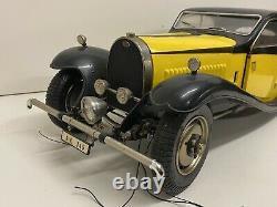 T2617 Pocher 18 Magnifique Bugatti Jaune & Noir 50 T 1933 Ak 345 Kit Monté