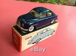 TEKNO SAAB 96 type 1, Mint, dark blue, off white interior Réf 827