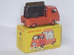 TRES RARE BRIQUE! DINKY TOYS France 60's 564 Renault Estafette miroitier NEUF BO