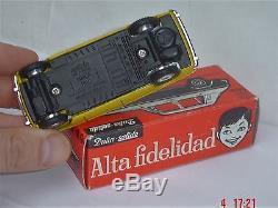 TRES RARE ancien DALIA solido Spain 49 SIMCA 1100 série 100 NEUF Boîte+pub dinky