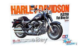 Tamiya maquette moto Harley Davidson Fat Boy Lo 1/6 16041