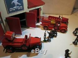 Teckno Garage Caserne De Pompier Complete Original Jouet Ancien