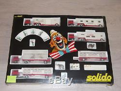Très rare SOLIDO Grand Coffret CIRQUE AMAR ref 663 1981 As New 1/43