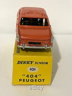 Tres Rare Dinky-toys Dinky Junior 101 Peugeot 404 1.43 Nb