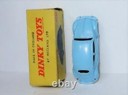 ULTRA RARE jtes PLASTIQUE BLEU Dinky Toys England 181 VW Volkswagen beetle käfer
