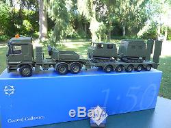 Vehicule Militaire Conrad 1/50 MB 6x4 + Semi-surbaissee & Ericsson Hagglunds