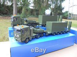Vehicule Militaire Conrad 1/50 Lot De 2 Ensembles Semis-remorques + Containers