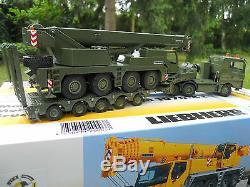 Vehicule Militaire Conrad 1/50 Man 6x4 + Semi-remorque + Liebherr Ltm 1070 Mib