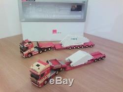 Volvo 6x4 +1 semi Broshuis 6 essieux + Scania semi TORBEN RAFN Wsi. 1/50