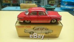 Vrai dinky toys panhard pl17 rare orange et sa boite origine 547 jouet ancien