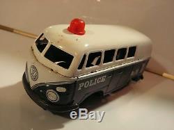 Vw Police Bus T1 Tin Toy Vintage 50/60 Made In Japan Okyasu