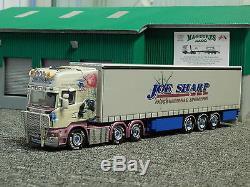 WSI Joe Sharp Scania R Topline + Curtian Sider Trailer, Rare Rare Rare