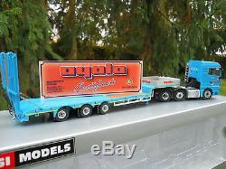 Wsi Models Man Tgx 480 6x2 + Semi Surbaissee 3 Essieux Rampes Ayala Neuf